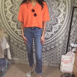 Tops - Cropped Orange Polo